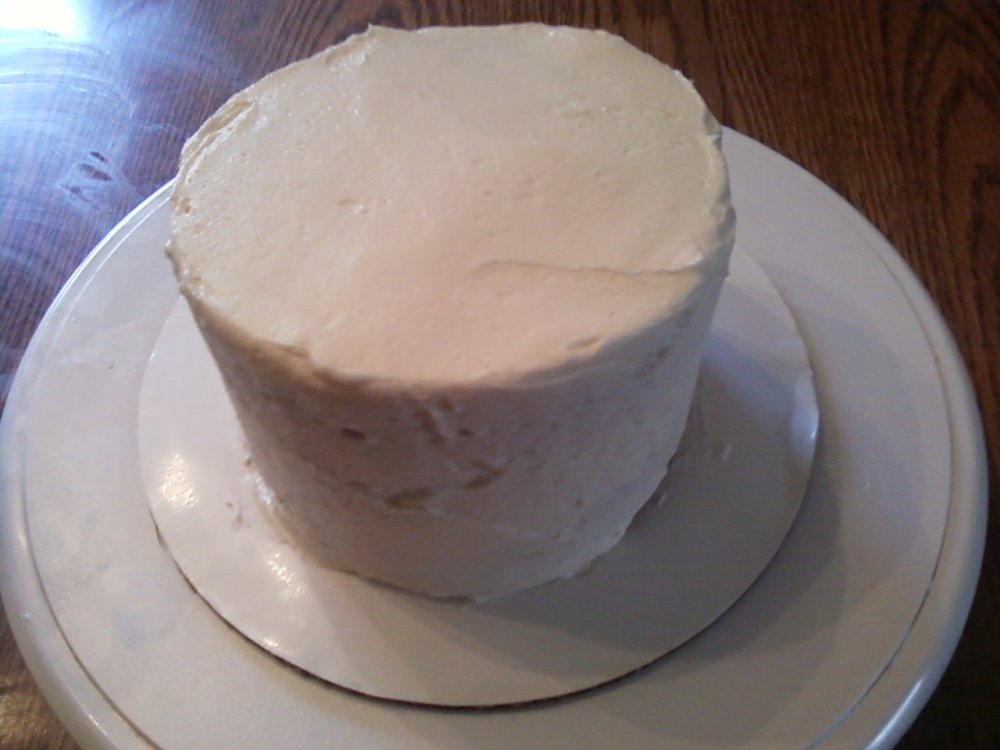 White Chocolate Cream Cheese Frosted Cheesecake Birthday Cake.  Wow, that's a mouthful! (6/6)